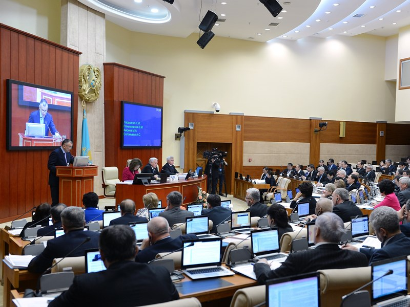 February 11, 2015 Plenary meeting of the Mazhilis